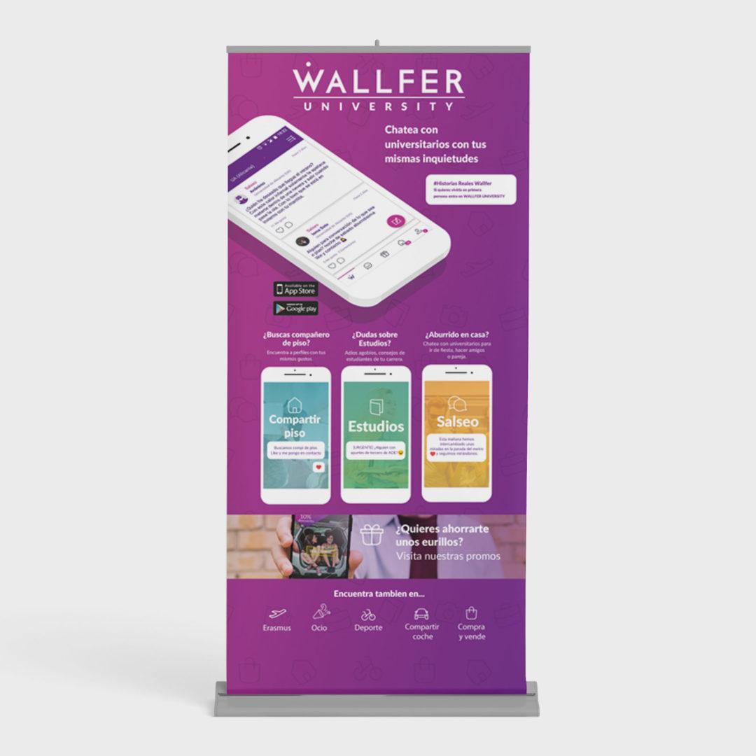 Roll Up para app Wallfer University